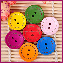 Hot Selling 20mm High quality Custom Bulk Decorative Wooden Buttons for shirt