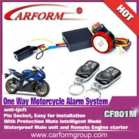 one way Motorcycle car alarm with remote engine starter