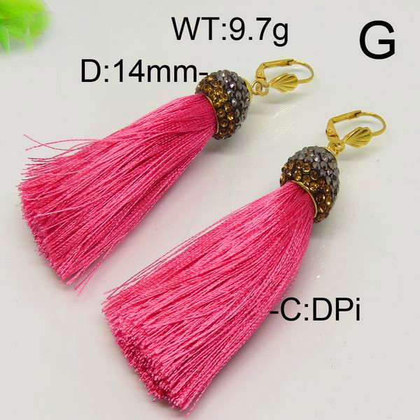 High Quality special model long drop 12 colors tassel drop dubai gold jewelry earring designs for girl