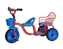 China New Toy Hot sales children twin tricycle /price twin tricycle for kids/High quality Baby Twin Tricycle with CE approval