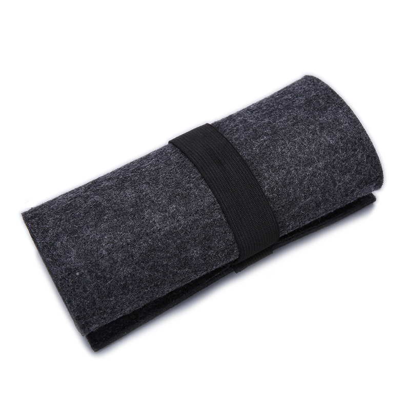 Hot Makeup Cosmetic Brush Holder Bag Fashion Roll Up Wool Felt Pencil Case For Teenagers