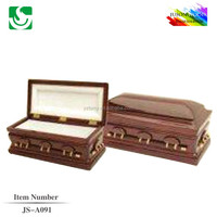 Wholsale solid ash wood coffin box