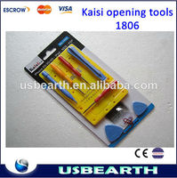 10 in 1Kaisi1806 cell phone unlock tool for Iphone 3G/3GS/4/4S & NDS & PSP Foil Tools mobile phone repairing tool set