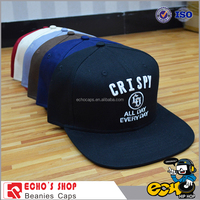 Customize high quality 6 panels 3D embroidery snapback hats and accept small MOQ