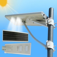Factory aluminum YMC-S40 integrated motion sensor IP65 dimmable LED 40W integrated new 12v dc led solar street lights