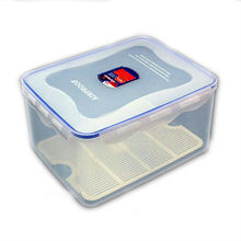 5.5L modular snapware airtight plastic food container/preservation box with lid/lunch box