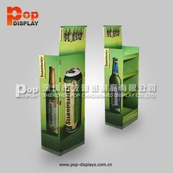 New 4-bottle cardboard wine carriers,4c printing dump bin display stand,4-glass cardbord bottle packing carrier