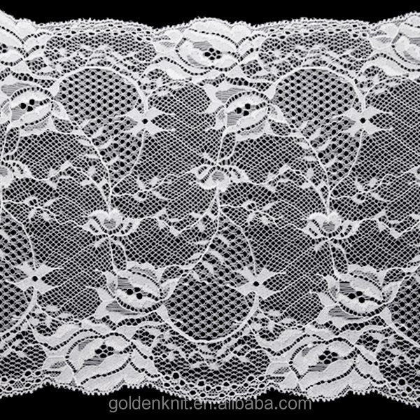 20cm Eco Friendly Nylon Spandex Lace trim Lace Fabric For Dress Underwear Clothing
