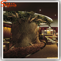 Life like indoor architectural model tree plastic tree trunk fake artificial tree stakes