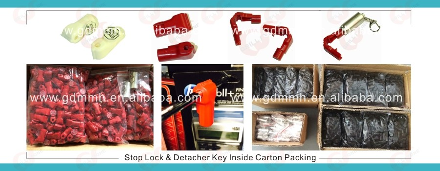 Display stop lock,stop lock for stem hooks,retail hook lock display security for mobile accessroies