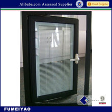 aluminum casement window custom with built-in blinds (FMY-1)