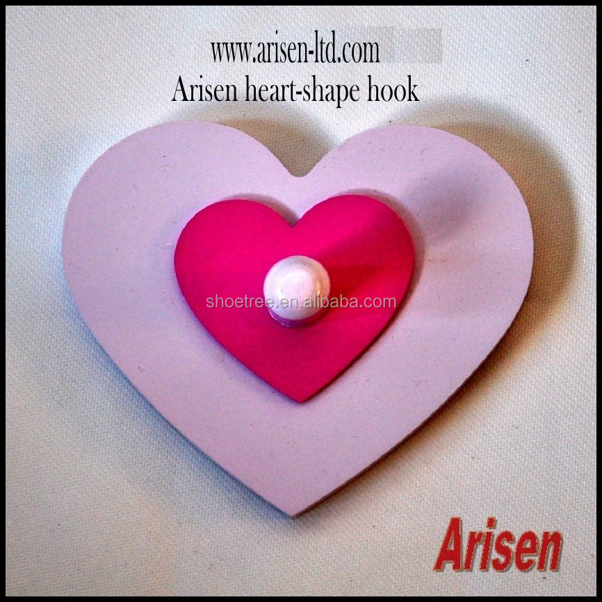 Arisen blue & cream heart-shape wall hook