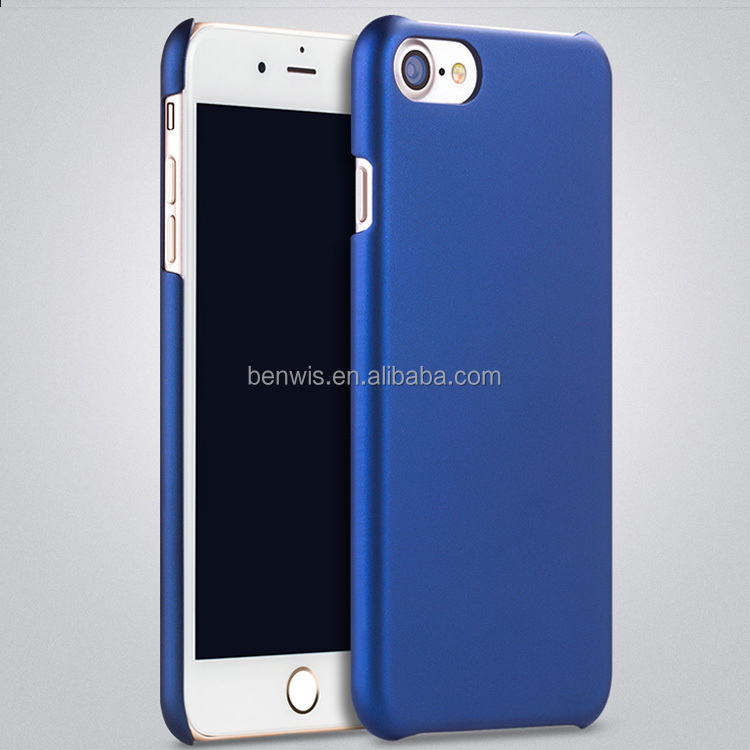 OEM ODM durable rubberized rubber coating metallic color hard case for ihpone 7/7 plus factory offer