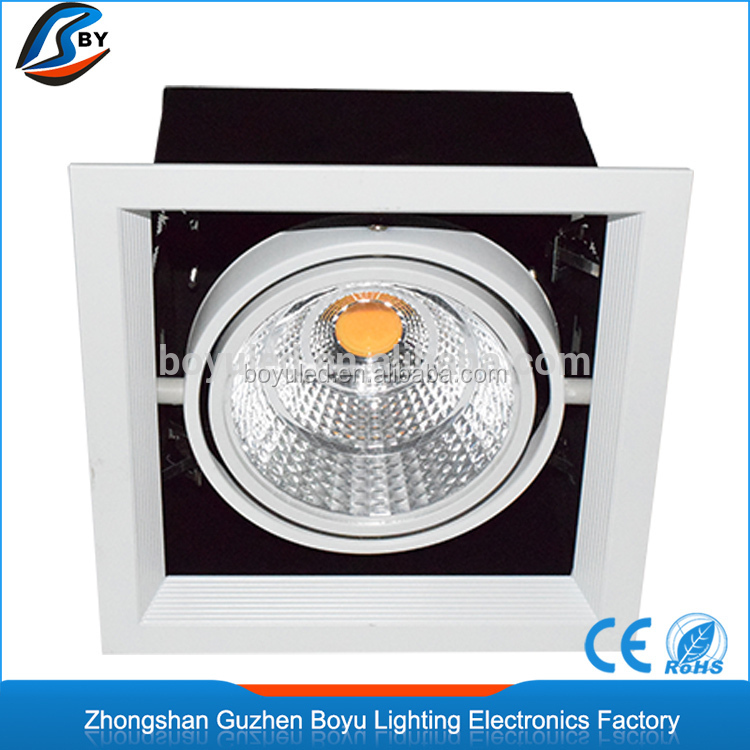 Square COB recessed down light 15W aluminum led grille downlight rectangle with 3 years warranty