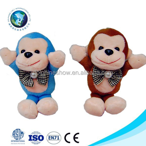 En71 standard custom mini plush magnet monkey keychain soft cute cheap small toy stuffed plush monkey