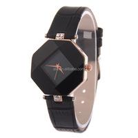 No Figure Korea style genuine leather wrist lady diamond watches