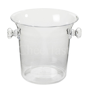 Portable Clear Color Ice Bucket Clear Acrylic