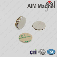 High quality strong attach force disc magnet with adhesive