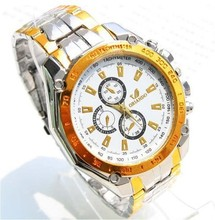 Online shopping gold and silver 320 alloy wrist watch quartz men's watches