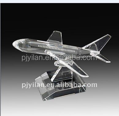3D laser glass crystal civil aviation airplane