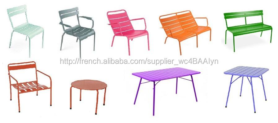 Métal Banc De Jardin Couleur Blanche-Image-Chaises En Métal-Id De