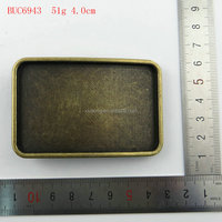 BUC6943 custom vintage plain blank belt buckles wholesale