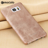 Mocolo Hot Sale Top A Leather Pu Material Customized Anti-Shock Mobile Phone Case Covers For Samsung Note 5
