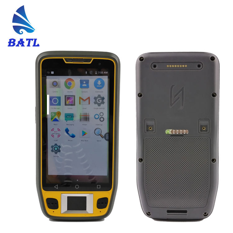 "5"" rugged android Biometric handheld terminal with fingerprint scanner"