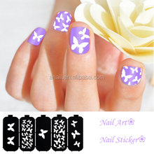 Reusable&Easy Use DIY Black Hollow Nail Art Stencil Design Nail Stickers
