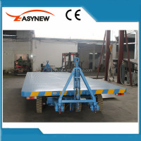 Double Traction Transport Flatbed Trailer
