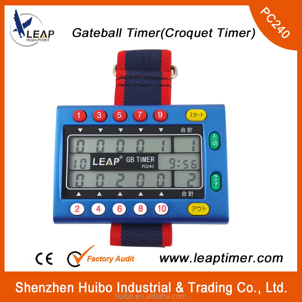 PC240 China supply digital gateball stopwatch <strong>timer</strong>