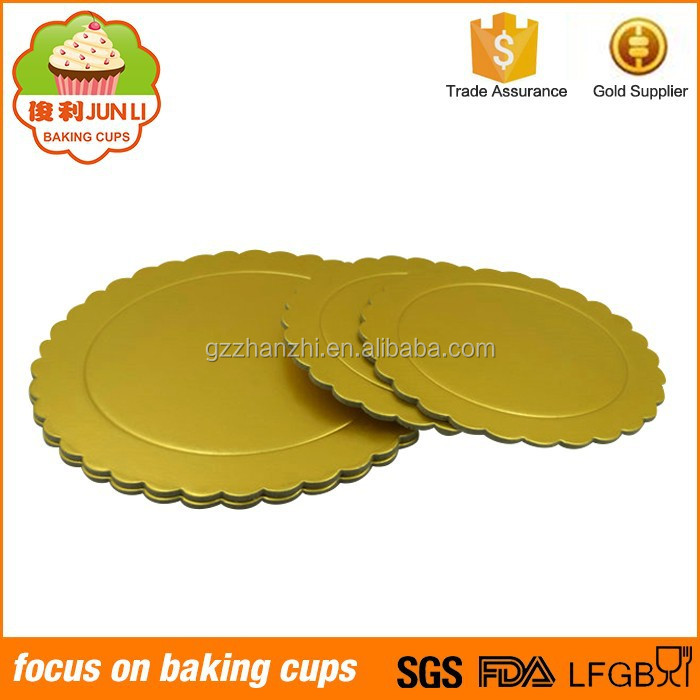 Manufacturer Gold Card Pad Mini Round Cake Board