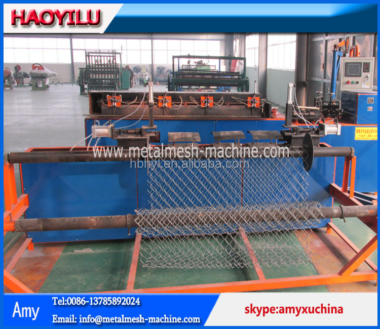 PLC Control Chain Link Fence Machine producter