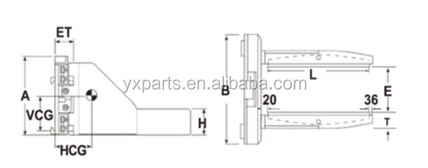 Forklift Flat Holding Stone Clamp