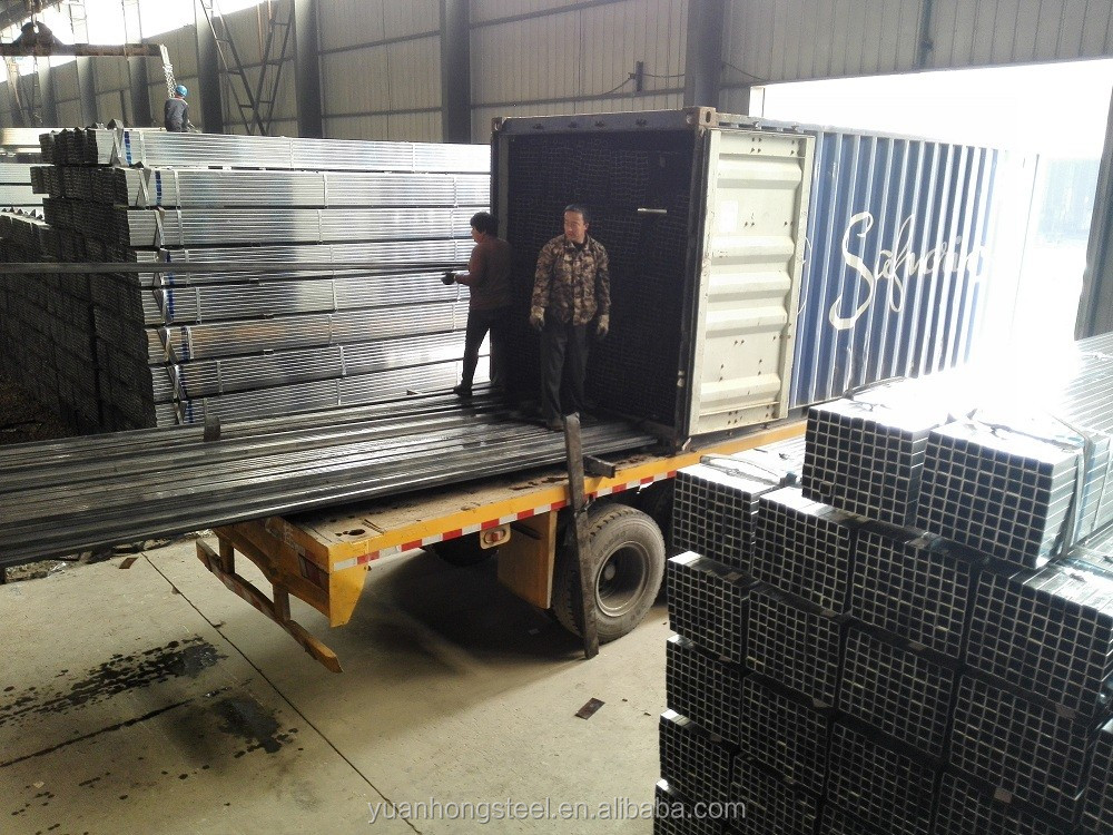 Ms Mild Carbon Pre Galv / Gi Square Steel Pipe / Galvanized Tube