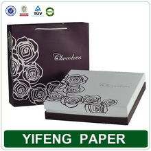 high quality custom luxury elegant gift paper cardboard empty packing boxes for chocolate