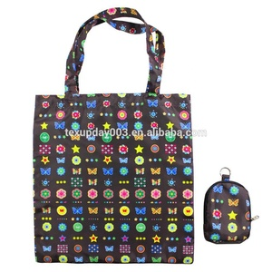 New Design Cheap Printed Reusable Foldable Waterproof Grocery Shopping Bag