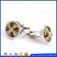 Best quality hot selling promotional pink opal jewelry cufflinks
