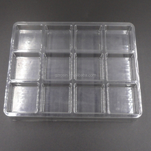 Hot sale cpu processor plastic clamshell box tray