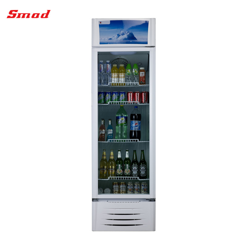 Supermarket Glass Door Display Beverages Showcase with LED Light