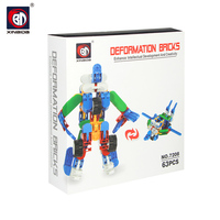 Intelligent deformed 3d building blocks toy building brickchildren toy