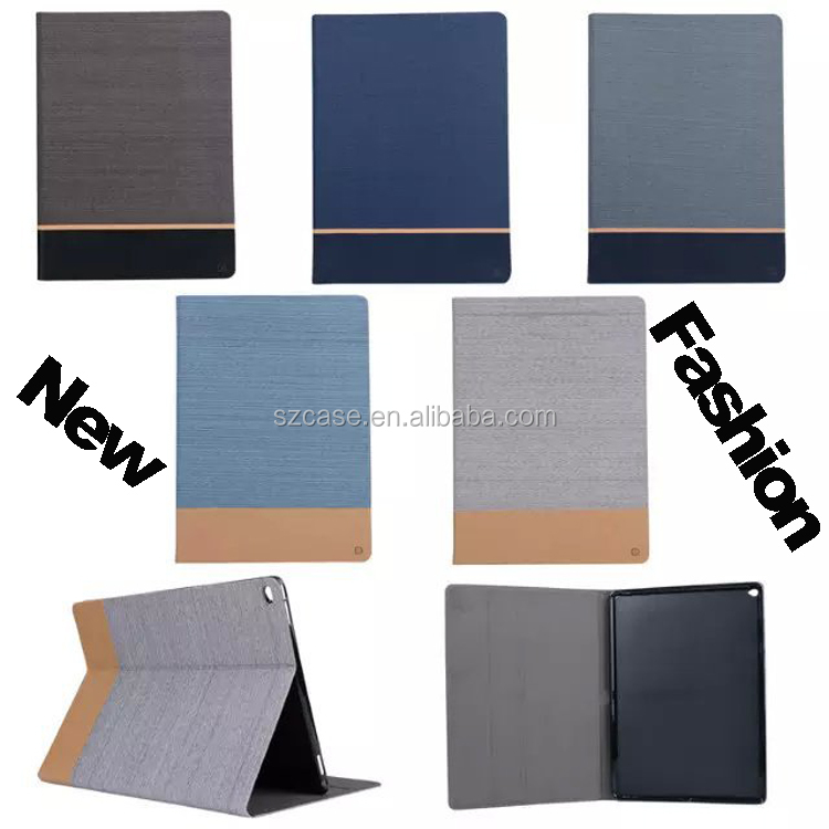 Luxury Stand Design Canvas Leather case for ipad 2 4 New Style Flip Cover Case for Ipad 2 4