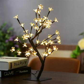 High Quality Warm White Home Decoration 48 LED Cherry Blossom Tree