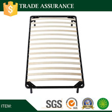 Single size Hotel metal bed frame with wooden slat