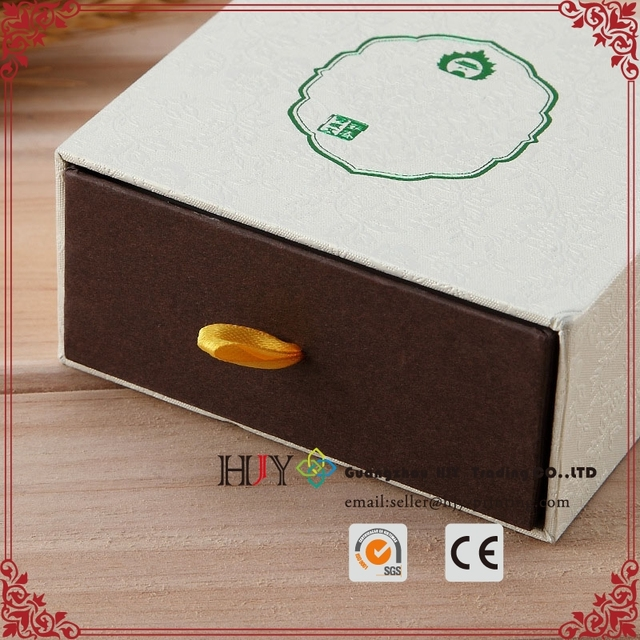 Custom drawer style sleeve cover slide plastic inner tray hot stamping logo fragrance makeup paper cosmetic box