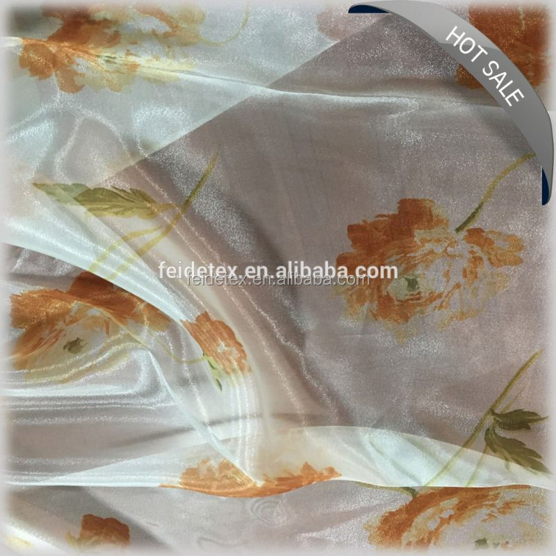 New curtain drapery designs printed curtain fabric