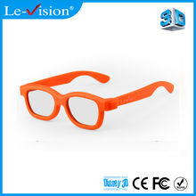 Comfortable 3D Circular Passive Glasses Cheap Active Shutter Kids Cinema 3D Glasses