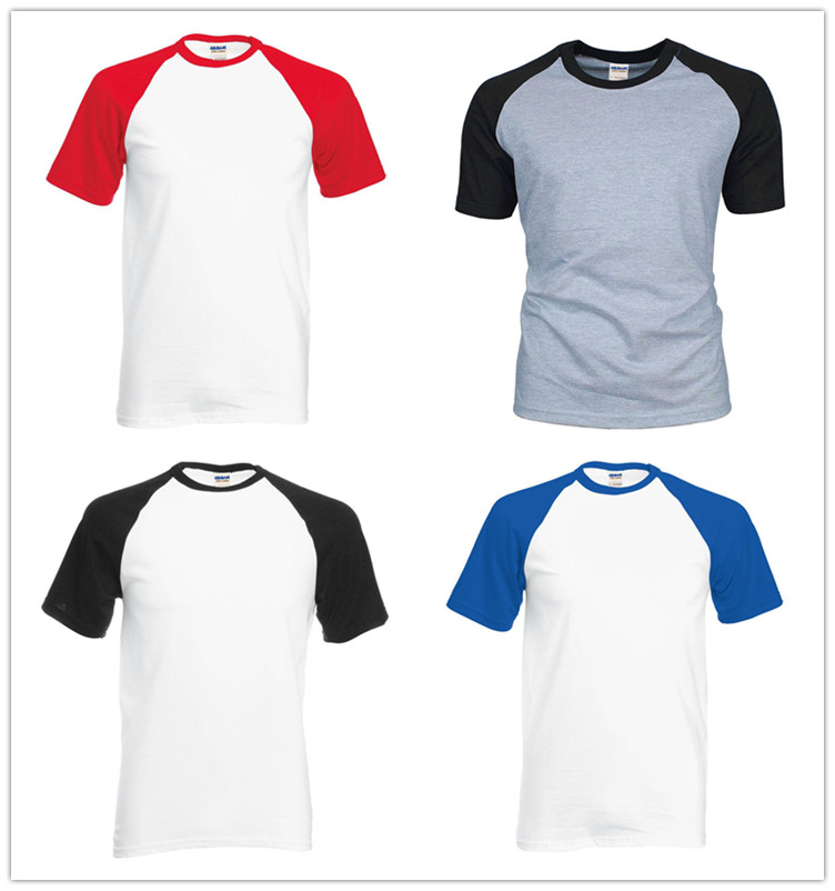 Hot sale blank wholesale O neck shirts 100% cotton plain color tshirts