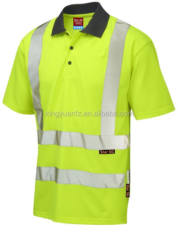 Safety reflective work t shirt clothing custom hi vis for Custom hi vis shirts