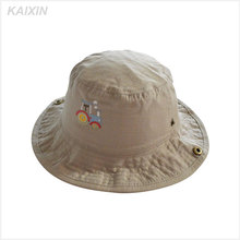multicolor cotton twill plain blank kids adjustable bucket hats with a wide floppy brim